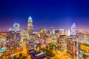 Charlotte, North Carolina Skyline at Night